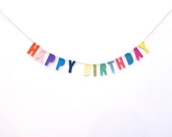 Funfetti Happy Birthday banner, petite funfetti party banner- random colors or tell me your color scheme!