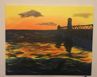 Sunset Painting on the Water