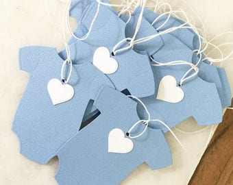 Blue baby tags 10 pack baby boy thank you gift tags baby showers its a boy pregnancy reveal party favour tags party favors party supplies
