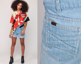 Levis Shorts 70s Jean Shorts High Waisted Denim Cut Offs Levi Cutoffs 1970s Frayed Vintage Shorts Medium 10 30