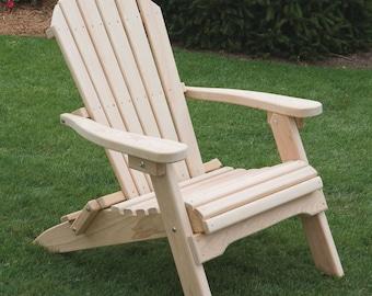 Cypress Wood Folding Adirondack Chair