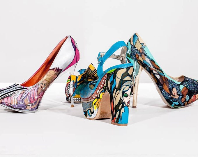 Shoes-Hand painted and designed