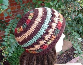 Beanie hat, skullcap beanie hat, crochet winter hat, orange yellow red woman beanie, teen handmade beanie hat