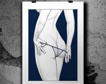 Cheeky - White Variant - Screenprint poster