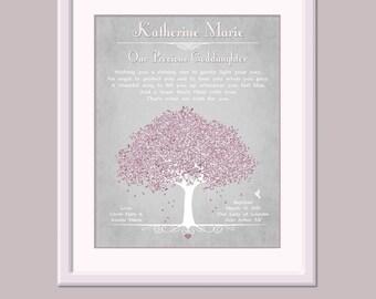 Baptism Gift For Goddaughter - Godchild Gift - Christening Gift For Goddaughter - Baptism Poem - Nursery Art - Baby Dedication Gift
