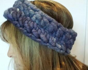 Crochet headband wool ear warmer extreme knitting