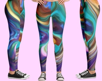 Leggings, leggings sport, legging women, yoga pants, workout pants, activewear, tye dye leggings