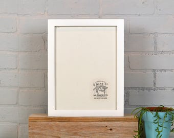9x12 Picture Frame in 1x1 Flat Style with Solid White Finish - IN STOCK Same Day Shipping - Handmade Frame 9 x 12 inch size