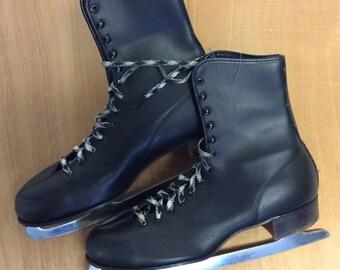 Mens Vintage Black Ice Skates 11