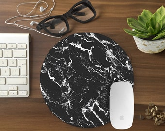 Mouse Pad, Black Marble Mousepad, Mouse Mat Marble print Mouse Pad Office Mousemat Rectangular Mousemat Mousepad design mouse pad - T80374