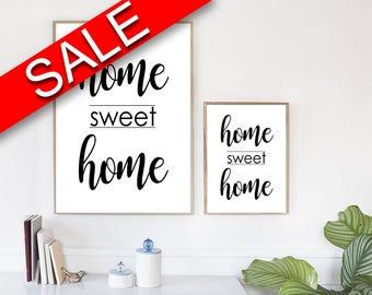 Wall Art Home Sweet Home Digital Print Home Sweet Home Poster Art Home Sweet Home Wall Art Print Home Sweet Home  Wall Decor Home Sweet Home