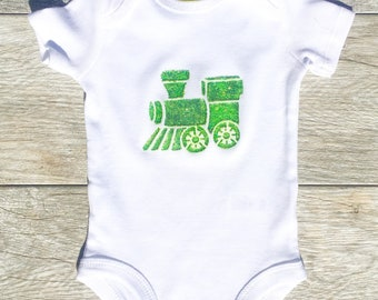 Kids - Train - Green - Toddler T-Shirt or Baby Onesie
