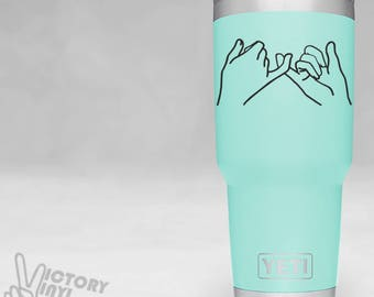 PINKY PROMISE vinyl decal | best friend decal | gift for friend | Yeti decals for girls