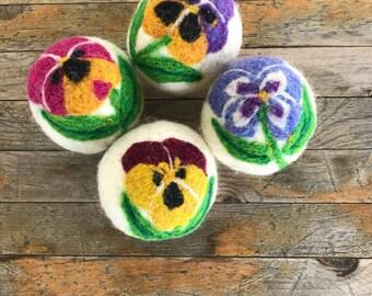 Dryer Balls - Wool Pansy