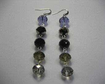 """3"""" Earrings,Earrings,Jewelry,Silver Earrings,Gift for Her,Dangle Earrings,Drop Earrings,Crystal Earrings,Gifts for Mom,Special Gift"""