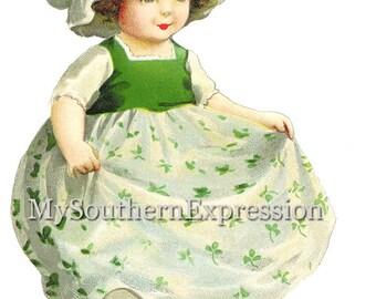 Vintage Ellen Clapsaddle St. Patrick Girl Instant Download