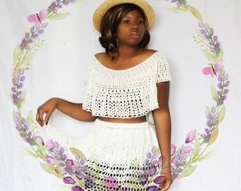 The Aeipathy Crochet Skirt Pattern & The Querencia Crochet Top Pattern. Instant Downloads! 2 Crochet Patterns!