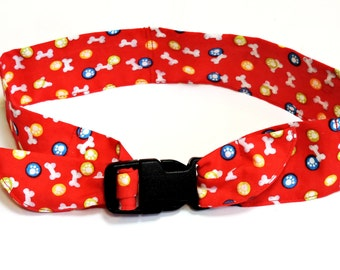 """Canine Cooling Collar, Keep Cool Dog Neck Cooler Bandana, Fabric Polymer Gel Band Adjustable Buckle, Sz Large fits 18 - 22"""", Red iycbrand"""