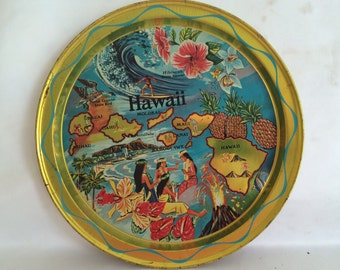 Hawaii Souvenir Metal Tray