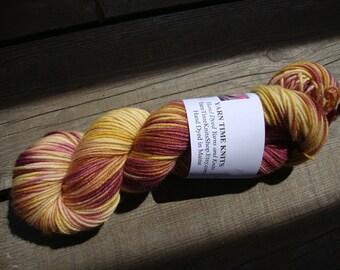 """Hand Dyed Yarn MCN DK  """"Prairie Sunset"""" merino, cashmere, nylon"""