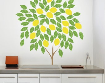 Lemon Tree Wall Decal – Tree Decal – Wall decal tree - Custom Wall Art – Nursery Wall Art – Vinyl Decals - Awesome decals / 053