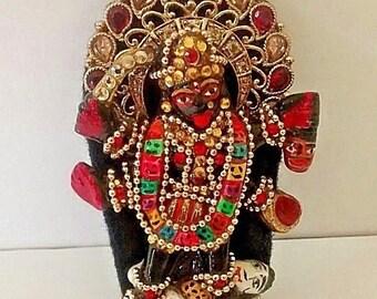 hindu goddess kali small traditional decorated statue