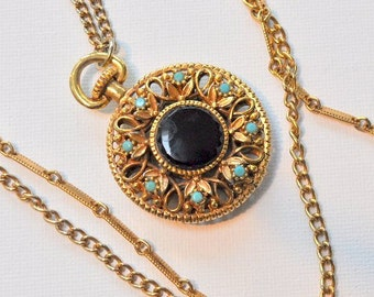 Watch pendant on long chains