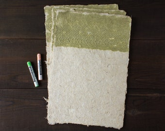 Handmade paper - Lace paper - Decorative paper - Card making - Art paper - Eco friendly paper (#21gl)