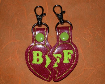 BFF Split Heart Keychains (SET OF 2)