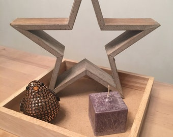 gray square candle