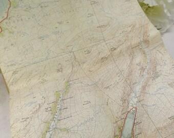Loch Lomond , Vintage Scottish Map 1956 , Outlander