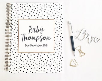 Personalized Pregnancy journal, expecting mom gift, maternity gift, first Mother's Day gift, gift from husband, pregnancy announcement, gift