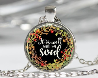 It Is Well With My Soul Necklace Religious Jewelry Bible Jewelry Gift for Her
