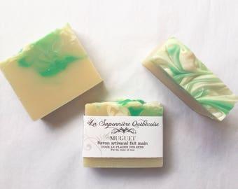 Savon Muguet, Savon artisanal fait main 100% naturel, Lily of the Valley, Cold process All Natural Handmade Soap
