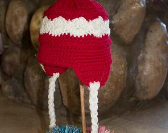 Girls 6-12 month earflap hat