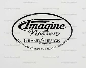 SMALL DECAL - Grand Design RV Owners Group Camping, Camper, trailer decal by Howard Avenue