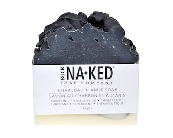 Natural Soap Charcoal & Anis Soap - Soap, Vegan Soap, Handcrafted Soap, Detox Soap, Cold Process Soap, Acne Soap, Glycerin Soap, black soap