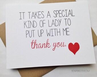 Mom Card - Mother's Day Card - Mom Birthday Card - Aunt Card - Grandma Card - Thoughtful Card