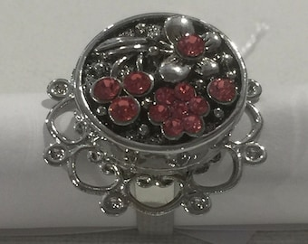 Flower RHINESTONE rose flower ring