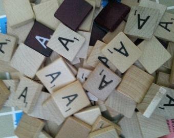50 scrabble letter tiles all letter A