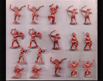 Reamsa Indian Warrior Reissues 54MM Soft Plastic Figures - New - Mint