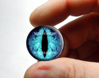 Glass Eyes - Blue Dragon Glass Taxidermy Eyes Cabochons - Pair or Single - You Choose Size