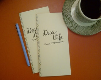 2nd Anniversary // Dear Wife On Our 2nd Anniversary Journal // Staple Bound Journal