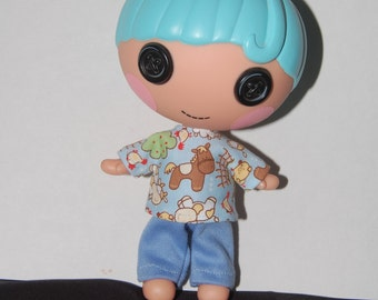 "Lalaloopsy Littles 7"" Boy doll clothes - Farm Aniimal 2 pc Pajamas tkct488"