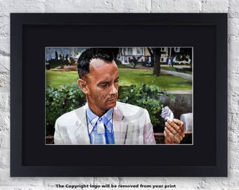 Forest Gump - Tom Hanks - Mounted & Framed Art Print
