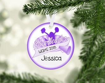 Cheer Banner Purple Ornament