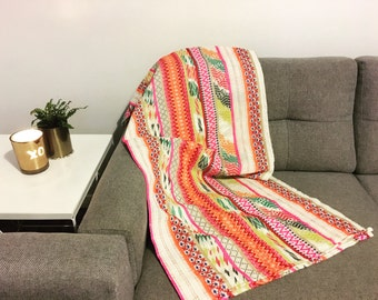 Bright and Colourful boho mexican throw rug