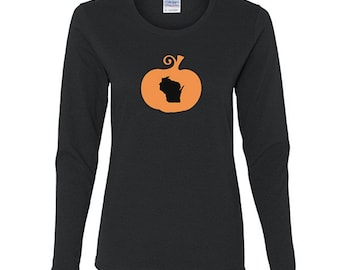 Wisconsin Halloween Shirt, Womens Long Sleeve