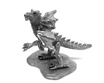 Dragon Friend pewter sculpture limited edition