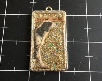 Dogs are My Life, Spaniel, Springer Spaniel Jewelry, 50% goes to the current selected animal protection charity